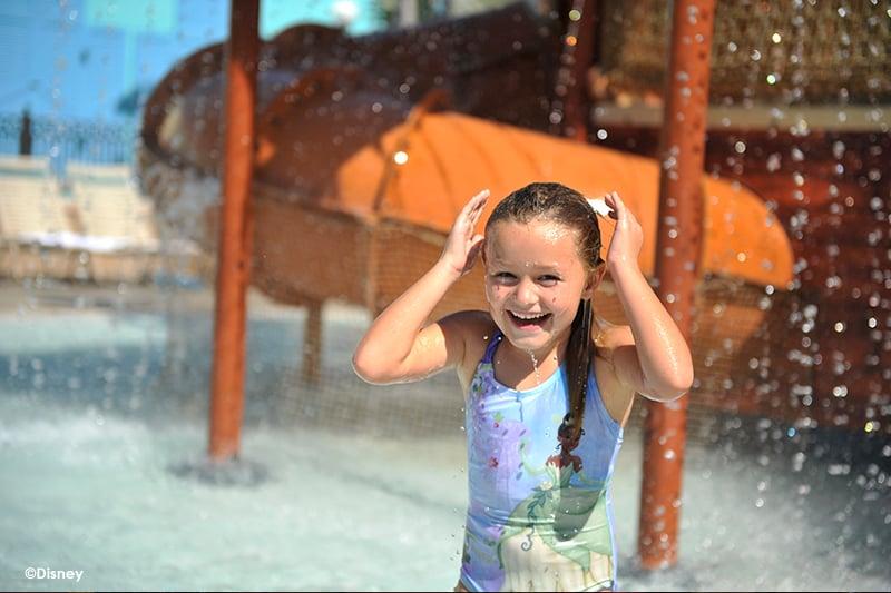 Disneys Caribbean Beach Resort Girl in Pool