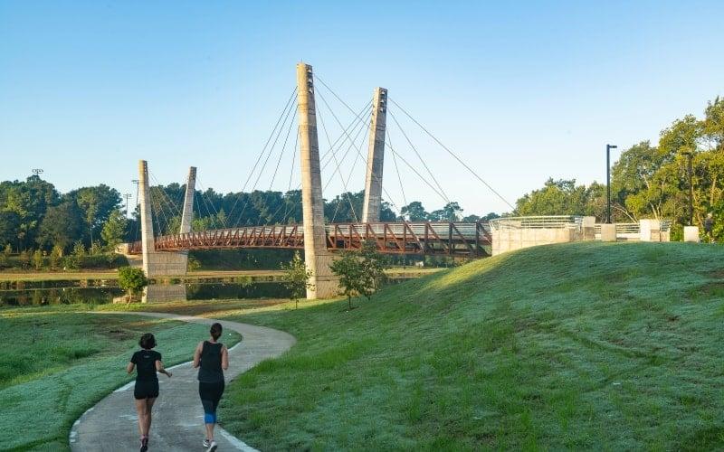 Mason Park Bridge along Brays Bayou Greenway, Houston Parks Board