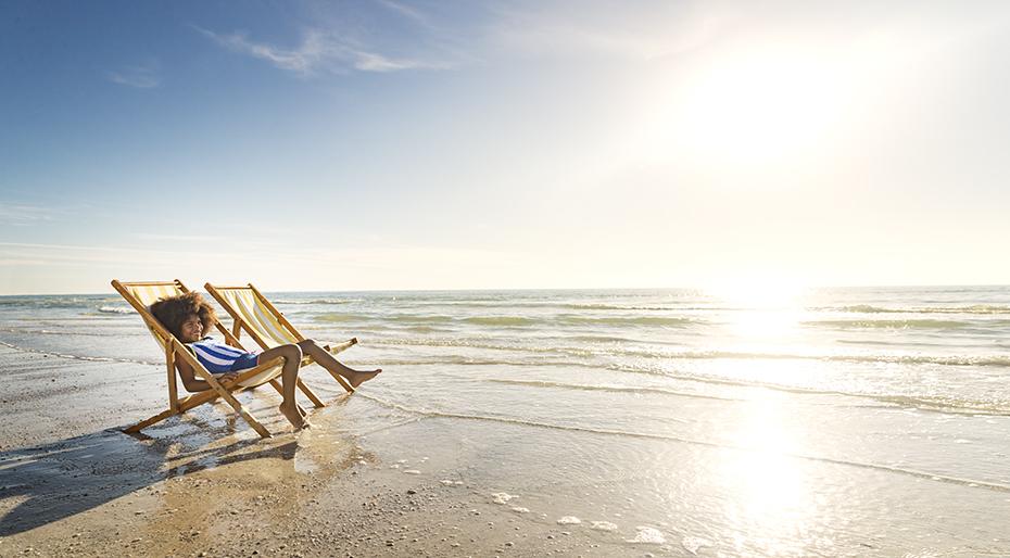 Naples Child on Beach Chair