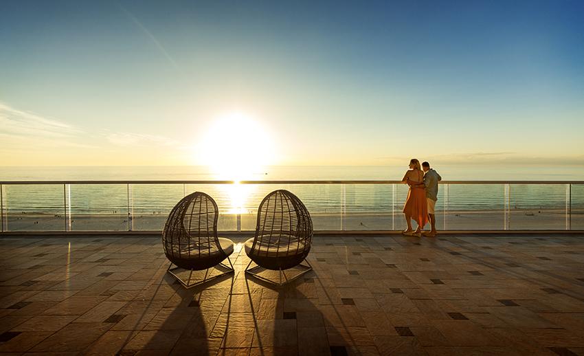Naples Couple on Balcony