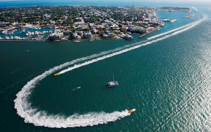 Powerboats compete Wednesday, November 7, 2012, during the 32nd annual Superboats International World Championship off Key West, Florida.