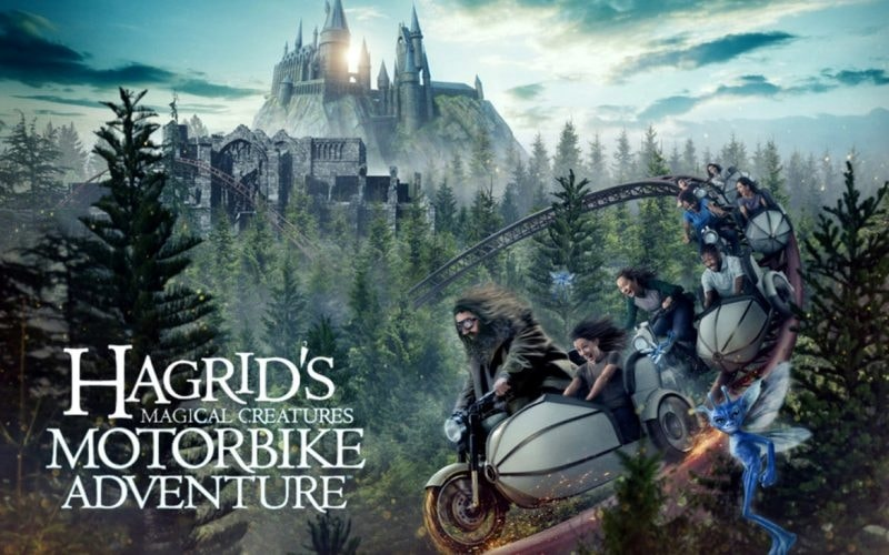 Creatures inside Hagrid's Magical Creatures Motorbike Adventure