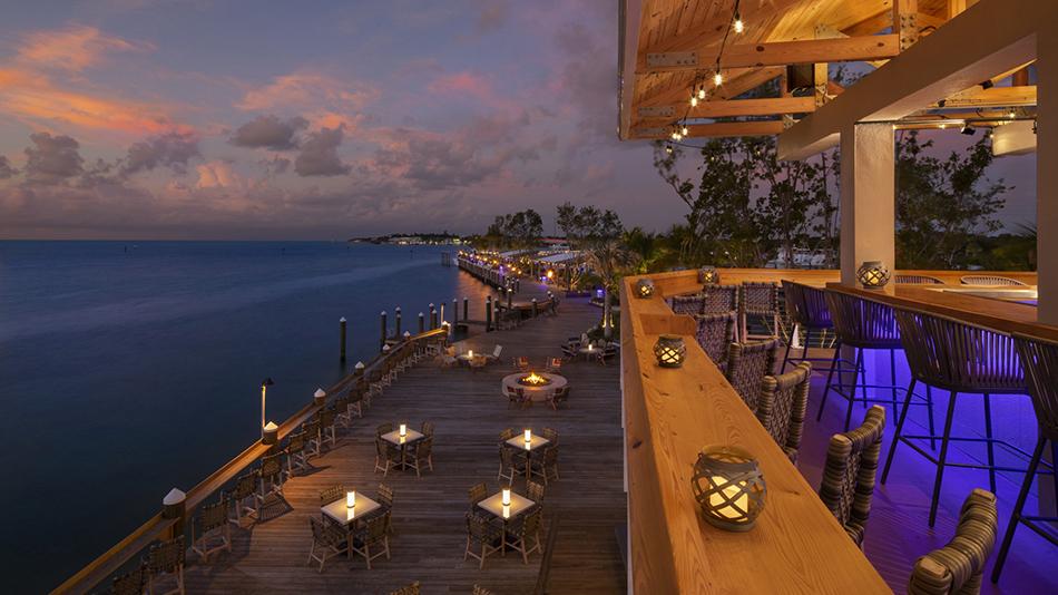 Postcard Inn on the Beach Deck at Tiki Bar Sunset 2