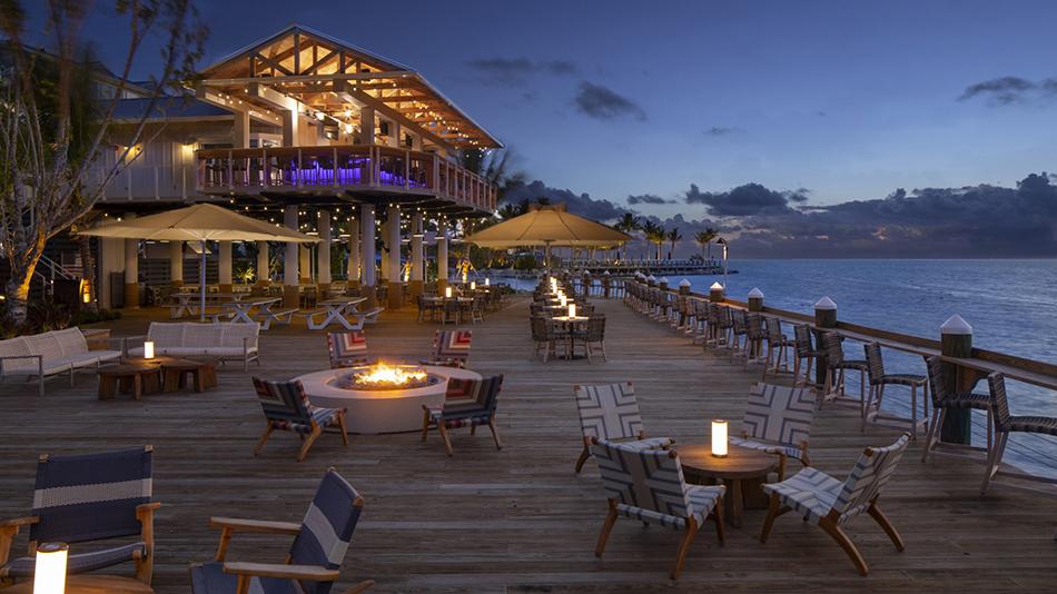 Postcard Inn on the Beach Deck at Tiki Bar Sunset 3