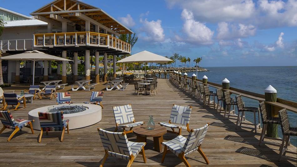 Postcard Inn on the Beach Deck at Tiki Bar