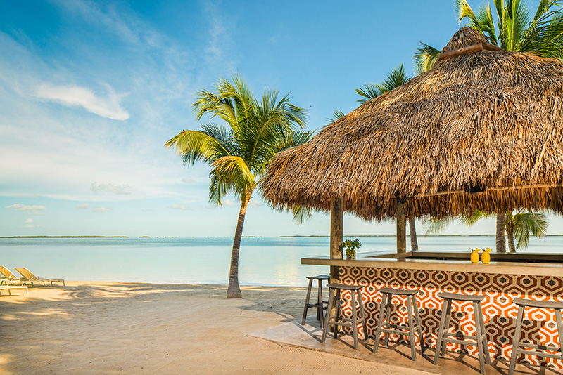 Bakers Cay Resort Kery Largo Beachfront Tiki Bar
