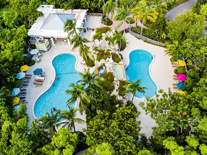 Bakers Cay Resort Kery Largo Pool aerial