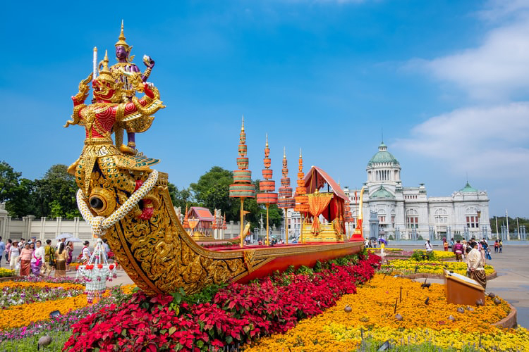 Bangkok Boat with Flowers copy