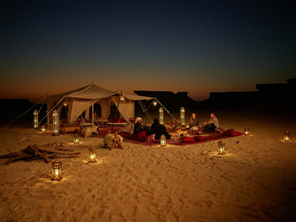 Qatar Tent Night